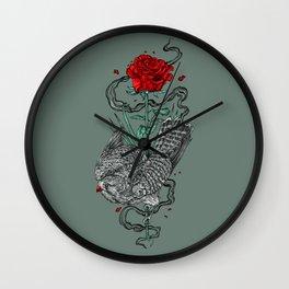 Hawk Rose Wall Clock