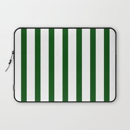 Dark Green Vertical Stripes Design Laptop Sleeve