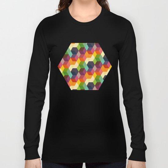 Retro Hexagonzo Long Sleeve T-shirt