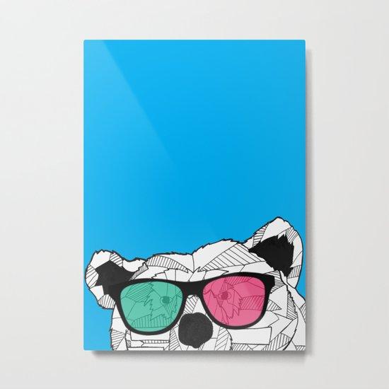 Short Bear Metal Print