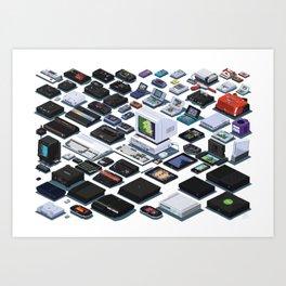A Pixel Retrospective 2 Art Print