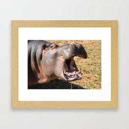 Hungry Hippo Framed Art Print