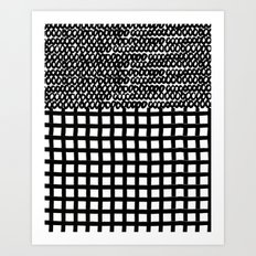 Circles and Grids Art Print