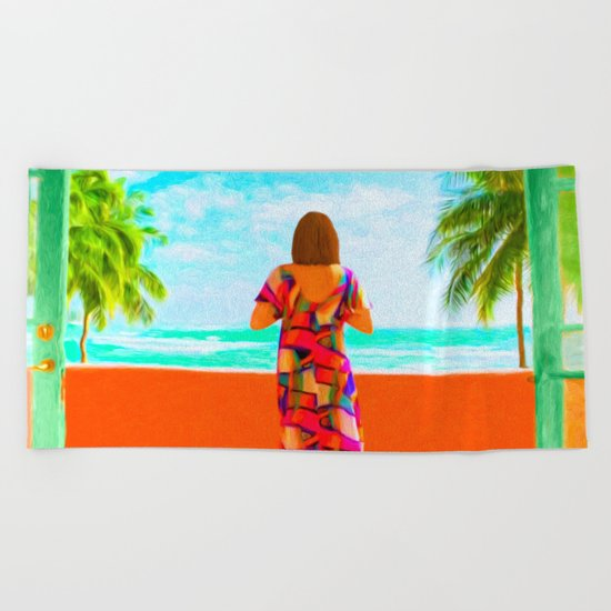 Shall I Compare Thee To A Summer's Day? Beach Towel
