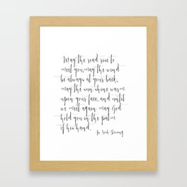Inspirational Quote Irish Blessing Printable Quote Print Typography Print Quote Irish Song Irish  Framed Art Print