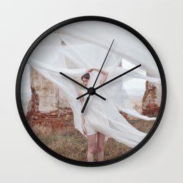 Falling into ease Wall Clock