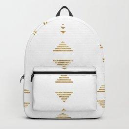 Modern geometric gold triangles Backpack