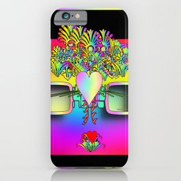 Glasses With Hearts and Flowers iPhone Case