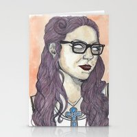 oitnb Stationery Cards featuring Vause OITNB by Ashley Rowe