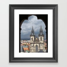 Prague from Town Hall Tower Framed Art Print