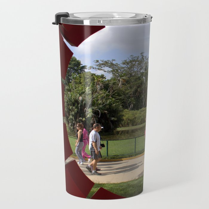 Through the sculpture ... Travel Mug