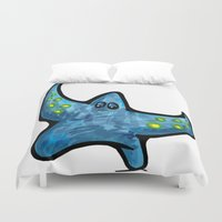 starfish Duvet Covers featuring Starfish by Michael Hewitt