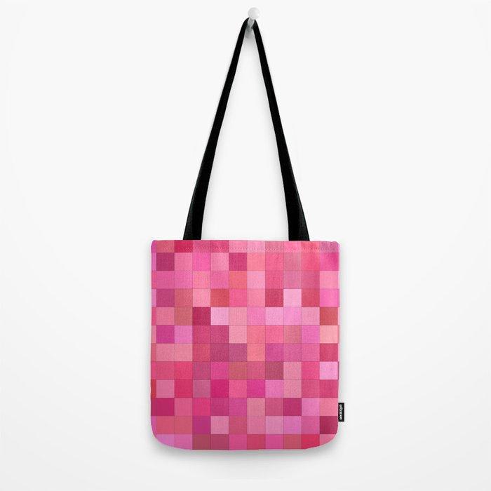 Girly squares Tote Bag