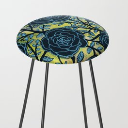 Black and Blue Counter Stool