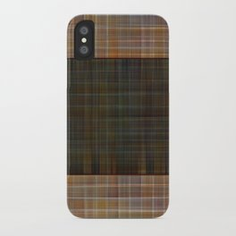 Patched plaid tiles pattern iPhone Case
