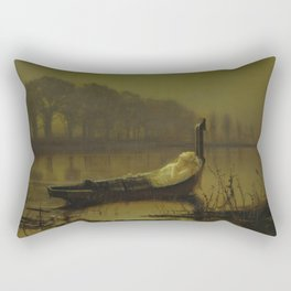 The Lady of Shalott by John Atkinson Grimshaw Rectangular Pillow