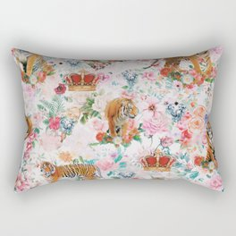 floral tigers 1 Rectangular Pillow