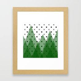 Christmas mountains Framed Art Print