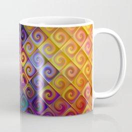 Spirals in Squares 2 Coffee Mug