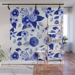 Flowers Print Wall Mural