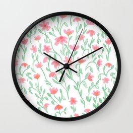 Rose Green Garden Wall Clock
