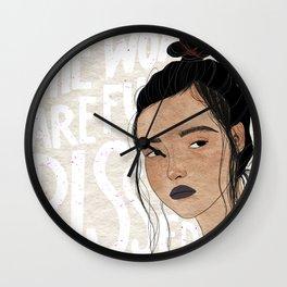 Womxn Light Wall Clock