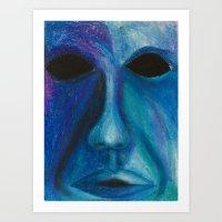 Blue Vibes  Art Print
