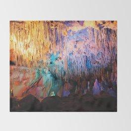 Rainbow Cavern Throw Blanket