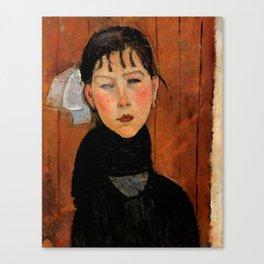 """Amedeo Modigliani """"Marie (Marie, fille du peuple)"""" Canvas Print"""