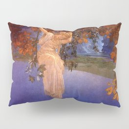 'Reveries' - Girl on a Swing on top of the World by Maxfield Parrish   Pillow Sham