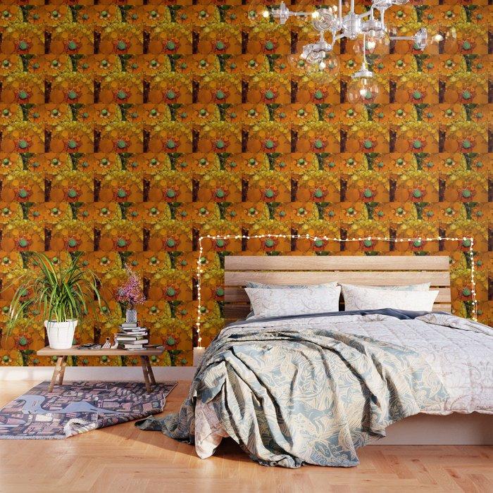 Sunset Poppies Wallpaper