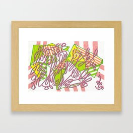 Example: dazzled manifesto (with foreground distraction) Framed Art Print