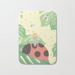 Girl On Ladybug Bath Mat
