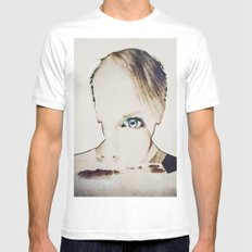 Portrait nature MEDIUM White Mens Fitted Tee