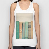 literary Tank Tops featuring Literary Gems I by Laura Ruth