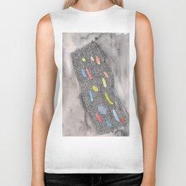 180311 Watercolour Micron 2  shapes art abstract  shapes art design Biker Tank