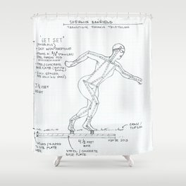 Get Set Drawing, Transitions through Triathlon Shower Curtain