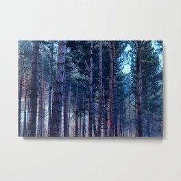 Painted Trees Metal Print