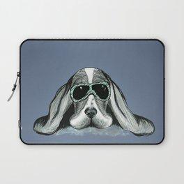 Cool Basset Hound Laptop Sleeve