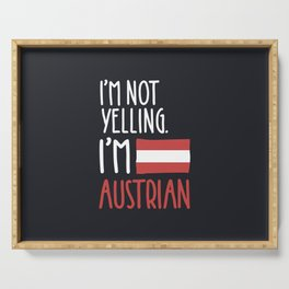 I'm Austrian Serving Tray
