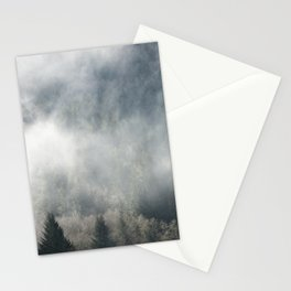 Limitless - Foggy Forest Nature Photography Stationery Cards