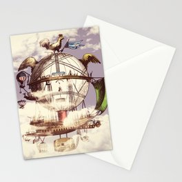 Drifting Through the Clouds Stationery Cards