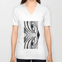 gravity V-neck T-shirts featuring GRAVITY by Fen_A