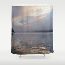 Phantasmagorical Fog on the Lake Shower Curtain