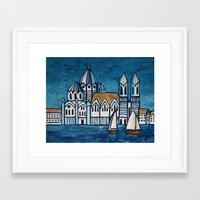 italy Framed Art Prints featuring italy by Ninamelusina