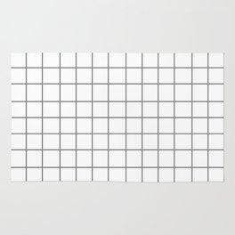 Grid (Gray/White) Rug