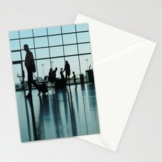 Airport silhouette Stationery Cards
