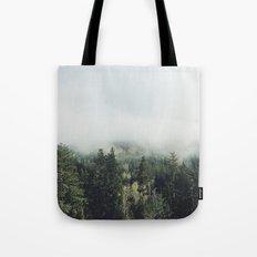 Foggy Treetops Tote Bag