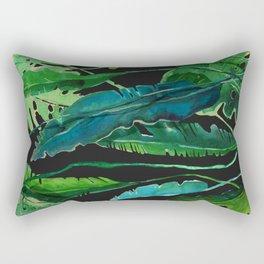 tropical nature compilation at nigth Rectangular Pillow