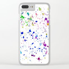 Colorful mess    watercolor Clear iPhone Case